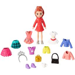 Boneca Polly Pocket Conjunto De Viagens Fashion Kit Viagem à Eur