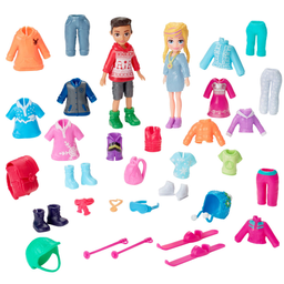 Bonecas Polly Pocket Kit Diversão Na Neve Mattel