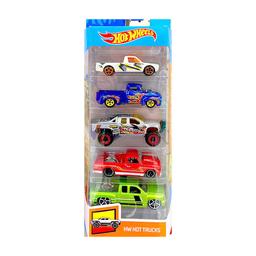 Carrinhos Hot Wheels Pacote Hot Trucks Mattel Com 5 Carros