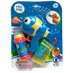Lançador De Bolhas Peixinho Azul Fanfun