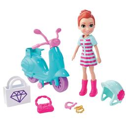 Mini Boneca E Veículo Polly Pocket Aventura Sobre Rodas Motocicl