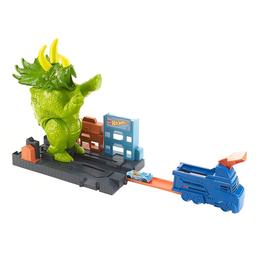 Pista De Percurso E Veículo Hot Wheels City Smashin' Triceratops