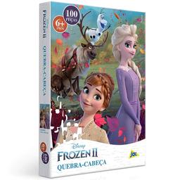 Quebra-Cabeça Disney Frozen 2 Elsa E Anna No Campo Toyster 100 P