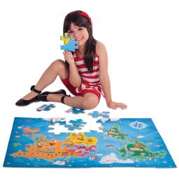 Quebra-Cabeça Conhecendo O Mundo Toyster 48 Peças