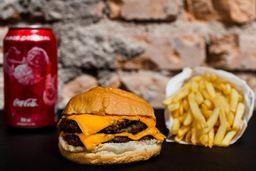 Combo - Duplo Cheese Burger com Fritas e Refrigerante