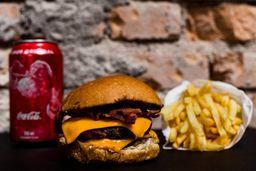 Combo -  Duplo Cheese Bacon com Fritas e Refrigerante