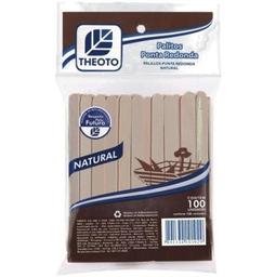 Palito Artesanal Theoto Ponta Redonda 100 Und