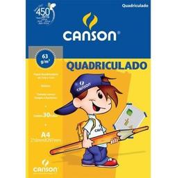 Bloco Quadriculado Canson A4 30 Fls 1 Und