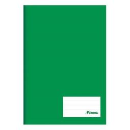 Caderno Brochura Foroni Capa Dura 1/4 96 Fls Verde 1 Und