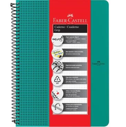 Caderno Universitário Faber Castell Grip Verde 80 Fls 1 Und