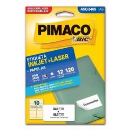 Etiqueta Adv Pimaco Inkjet Laser A5 34X65Mm Brc A5Q-3465 120 Und