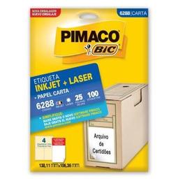 Etiqueta Adv Pimaco Inkjet Lase 138,11X106,36Mm Brc 6288 100 Und