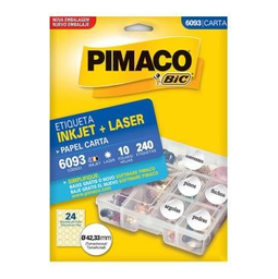 Etiqueta Adv Pimaco Inkjet Laser Carta 42,33Mm Brc 6093 240 Und
