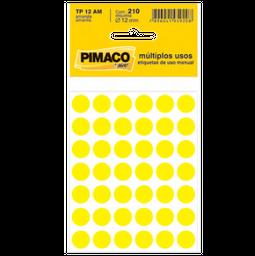 Etiqueta Adv Pimaco Redonda 12Mm Amr 210 Und