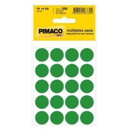 Etiqueta Adv Pimaco Redonda 19Mm Verde 200 Und