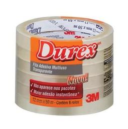 Fita Adv 3M Transparente Durex 12Mm X 50M 6 Und