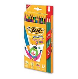 Lápis De Cor Bic Triangular Evolution Kids E 2 Lápis Prt 14 Und
