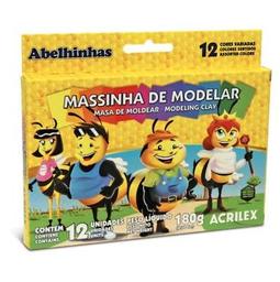 Massa De Modelar Acrilex Abelinhas 180 g 12 Und