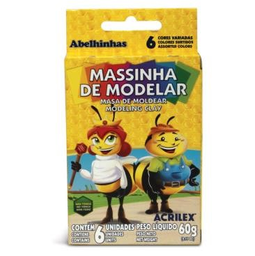 Massa De Modelar Acrilex Abelinhas 60 g 6 Und