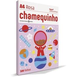 Papel Sulfite Chamex Chamequinho Rosa 75Gr A4 21X29,7Cm 100 Und
