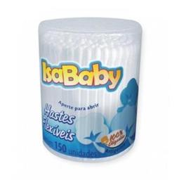 Hastes Flexíveis de Algodão Isababy Pote