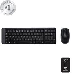 Teclado E Mouse Logitech Wireless Usb Prt Mk220 1 Und
