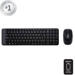 Teclado E Mouse Logitech Wireless Usb Prt Mk220 1 Und
