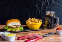 Combo Burger + Batata Frita + Coca-Cola Lata 220ml