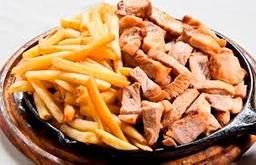 Lombo na Chapa com fritas