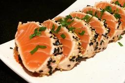 Sashimi Salmão Gergelim 10p