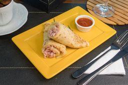 Omelete de Queijo Coalho, Presunto e Mini Tomates