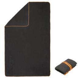 Toalha Em Microfibra Tamanho Gg 110 X 175 Cm Preto