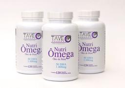Ômega 3 Tave Pharma 50Dha 1000Mg 120 Cápsulas