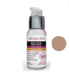 Base Facial Biozenthi Hidratante Bege Medio 30 mL