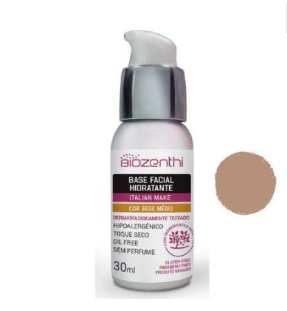 Base Facial Biozenthi Hidratante Bege Medio 30 mL