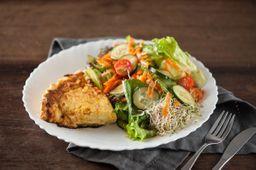 Quiche com Salada Mais Bolo Recheado - 20% OFF