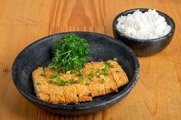 Chickenkatsu-acompanha gohan