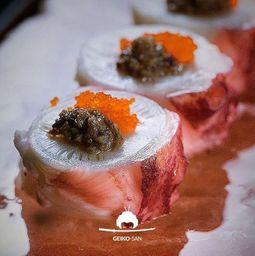 Sashimi de Polvo em Cubos
