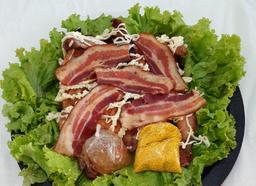 Frango na brasa com catupiry e Bacon