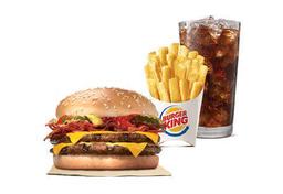 Combo Cheeseburger Duplo com Bacon
