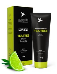 Puravida Creme Dental Tea Tree Limão E Menta 120 g