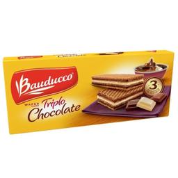 Biscoito Bauducco Wafer Triplo Chocolate 140 g