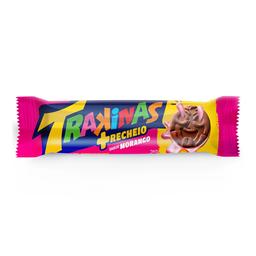 Biscoito Trakinas Recheado Mais Morango 126 g
