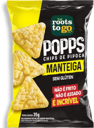 Chips Popps Roots To Go Manteiga 35 g