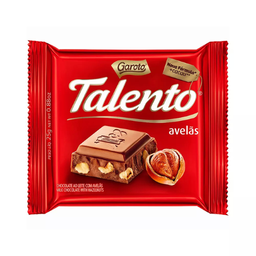 Chocolate Garoto Talento Chocolate Ao Leite Com Avelãs 25 g