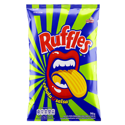 Batata Frita Ondulada Cebola Salsa Elma Chips Ruffles Pacote 96g