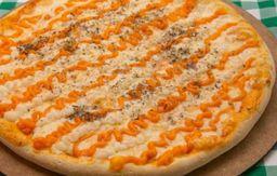 Pizza grande três queijos com Borda Catupiry.