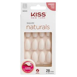 Unha Postiça Kiss Ny Salon Naturals Longo Estileto 1 Und
