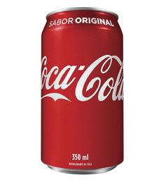 Refrigerante coca cola lata 350ml.