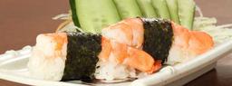 Dupla de sushi de camarão